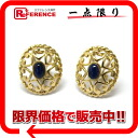 "K18YG gold brand new Dior lapis lazuli earrings as well ""response.""-fs3gm"