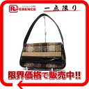 "Burberry check セミショルダー bags Brown x black s correspondence.""fs3gm"