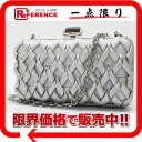 "Ferragamo chain party bag shoulder bag Silver ""response.""-fs3gm"