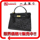"Crocodile handbag black ""response.""-fs3gm"