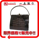 "Caiman crocodile handbag Brown? s support.""fs3gm"