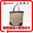 "Gucci MAYFAIR (Mayfair) GG Tote webbing Ribbon beige x Brown 257062 beauty products ""enabled."""