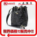Crocodile-like model push enamel drawstring purse bag black 》 fs3gm for 《