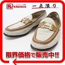 "HERMES canvas X leather Constance loafer ""hard"" 36 beige X brown 》 fs3gm for 《"