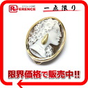 パトリシアパラーティー K18 shell cameo pendant broach one point diamond 》 fs3gm 02P05Apr14M for 《