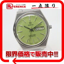 Omega Cima star color dial men watch D date automatic SS light green clockface antique 》 fs3gm for 《