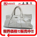 "Ferragamo leather tote bag Silver ""response.""-fs3gm02P05Apr14M02P02Aug14"