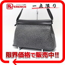 "HERMES ""ヨーバッグ"" 2WAY semi-shoulder bag black Dalmatian silver metal fittings 》 fs3gm for 《"