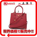 PRADA SAFFIANO LUX( サフィアーノリュクス) 2WAY handbag red (FUOCO) BB2490M-free 》 fs3gm for 《