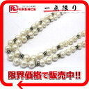 Chanel rhinestone imitation Pearl long necklace white / gold hardware? s support.""