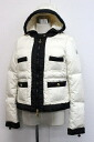 "MONCLER ladies down jacket 1 White x black s correspondence.""fs3gm"