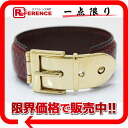 Gucci lizard belt motif bangle bracelet red gold metal fittings 》 fs3gm for 《