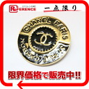 Chanel CC brooch gold x black s correspondence.""
