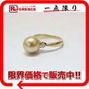 》 fs3gm 02P11Jan14 for 《 as well as a recycling jewelry K18YG Golden pearl approximately 9.5mm diamond 0.16ct ring 11 new article