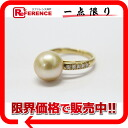 》 fs3gm for 《 as well as a recycling jewelry K18YG Golden pearl approximately 11.2mm diamond 0.14ct ring 12 new article