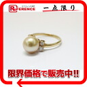 》 fs3gm for 《 as well as a recycling jewelry K18YG Golden pearl approximately 9.2mm diamond 0.23ct ring 12 new article