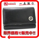 "Gucci leather 6-key holder black 115225 ""response.""-fs3gm"