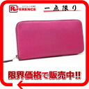 "Hermes large zip around wallet ""アザップ long silk'in"" Epson ローズティリアン P ticking? s support."""