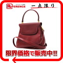 Beer Gini leather 2WAY handbag red 》 fs3gm for 《