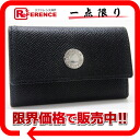 Six BVLGARI classical music grain leather key case black 20234 》 fs3gm for 《