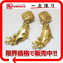 CHANEL hat motif earrings gold 》 fs3gm for 《