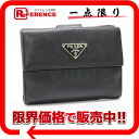 "Prada leather W hook goods fabric black ""response.""-fs3gm"