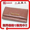 Six miu miu black co-model push leather key case coral pinks system 》 fs3gm for 《