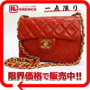 "Chanel lambskin ミニマトラッセ chain shoulder bag red ""support."""