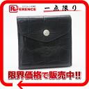 이르비존테크로코형 밀기 레더 W훅크 지갑 블랙《대응》fs3gm
