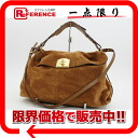 "Sergio Rossi suede / leather 2-WAY shoulder bag Brown? s support.""fs3gm"
