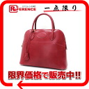 "31. Hermes""boring"" handbag Bock scarf Rouge system G inscribed with shoulder strap fs3gm"