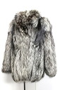 Silver fox Lady's coat fur free 》 fs3gm 02P05Apr14M for 《