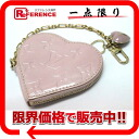 "ルイヴィトンモノグラムヴェルニ ""Porto Monet cool"" heart type coin case Rose pearl M91431 》 fs3gm for 《"