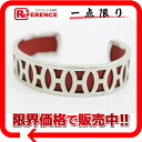 HERMES H logo caph bracelet leather X metal red system X silver 》 fs3gm for 《
