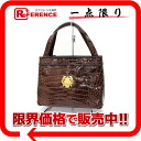 Alligator handbag brown 》 fs3gm for 《