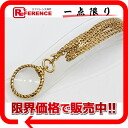 "Chanel Loupe long necklace gold ""response.""-fs3gm"