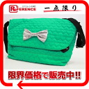Samantha Vega nylon heart stitch shoulder bag green 》 fs3gm for 《