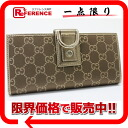 "Gucci NEW ABBEY (new by) satin GG two fold wallet gold x Brown 141412 like new ""support."""