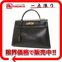 "Hermes handbags ""Kelly 32"" outside seam dark brown gold bracket Bock scarf old I carved ""response."""