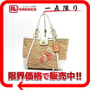 Coach Hamptons weekend straw tote bag natural X white 19356 》 fs3gm for 《