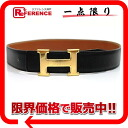 "Hermes H reversible belt box 70 Cafe × クシュベル black x natural gold hardware 1 Z time ""response.""-fs3gm"