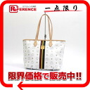 "MCM elegante leather tote bag white? s support.""fs3gm"
