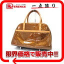 "Fs3gm Louis Vuitton モノグラムヴェルニ ""Tompkins Square Park"" Boston handbag bronze M91103 ""enabled."""
