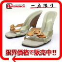 "Louis Vuitton Vernis heeled Mule Sandals 37 Silver series ""correspondence."""