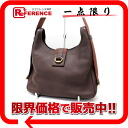 "Hermes ""Saco"" shoulder bag トリヨンクレマンス brown gold bracket B inscribed ""response.""-fs3gm"
