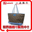 "フェンディズッカ ""roll bag"" tote bag brown X blue 8BH185 》 fs3gm for 《"