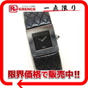 "Chanel matelasse Womens watch SS × leather black quartz ""response.""-fs3gm"