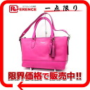 Coach Legacy Mollie Satchell 2WAY tote bag fuchsia pink 21132-free 》 fs3gm for 《