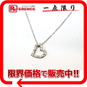 Recycled jewelry heart ダイヤペンダントネックレス K18WG diamond 0.15 ct beauty products fs3gm