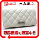 "Chanel パリニューヨーク quilting two bi-fold zip around wallet ivory beauty products ""enabled."""